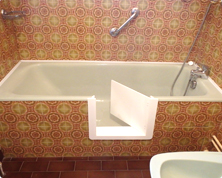 Ouverture de baignoire