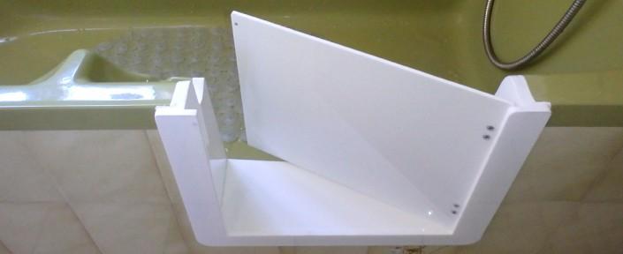 2ème solution avec portillon anti-éclaboussure