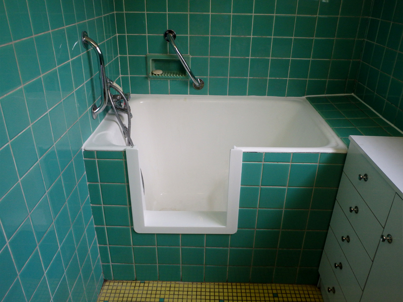 Découpe de baignoire