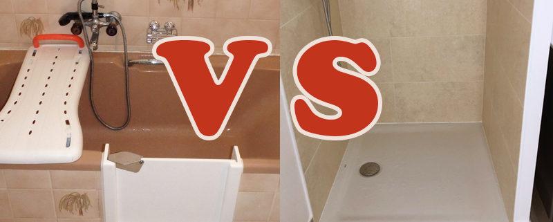Porte sur baignoire VS receveur de douche