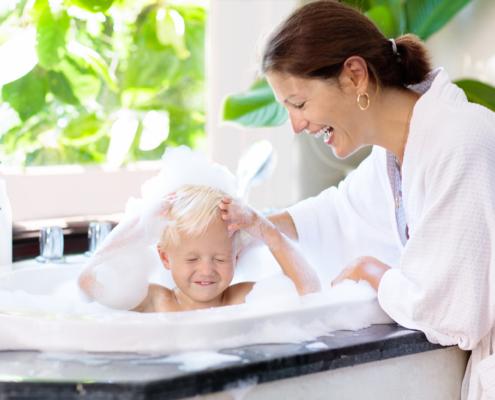 Baignoire pour les séniors et pour les enfants